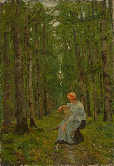 Femeie in Padure - Ion Andreescu