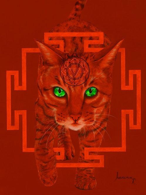 KALI's CAT- Giclée on canvas,  121,60 X 75,2cm