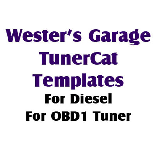 TunerCat Templates for Diesel FOR OBD1 Tuner