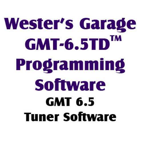 GMT-6.5TD(TM) Programming Software