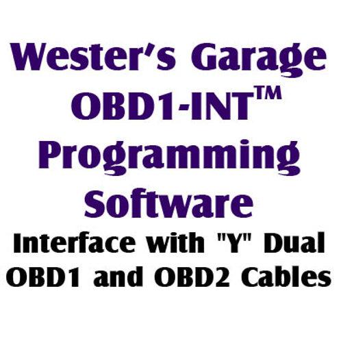 OBD1-INT(TM) Programming Software