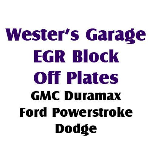EGR Block Off Plates