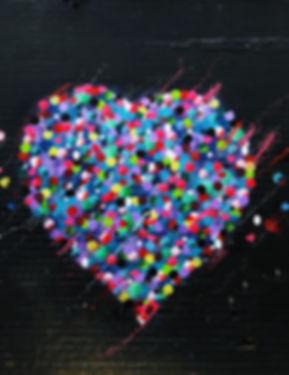 Pintada de corazon