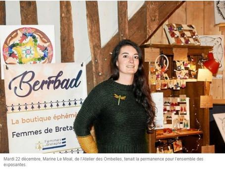 Article du Télégramme sur la boutique Berrbad à Bon Repos