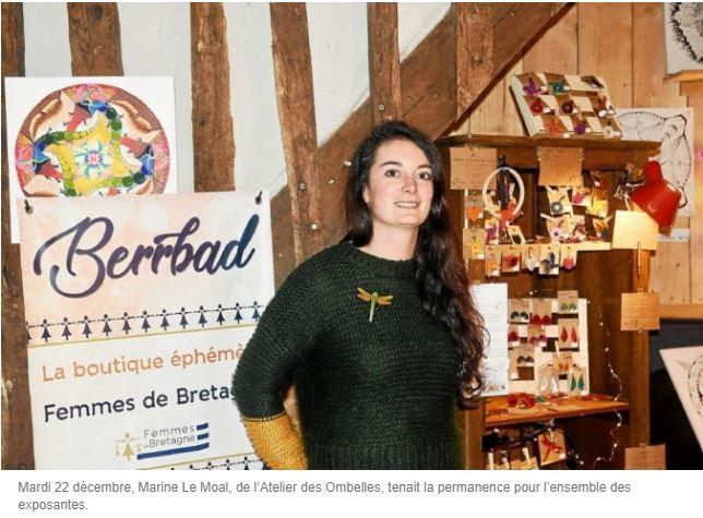 Marine de l'Atelier des Ombelles dans la boutique Berrbad