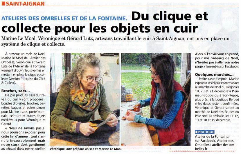 Marine de l'Atelier des Ombelles et Véronique de l'Atelier de la Fontaine en plein travail dans leur atelier à Saint-Aignan