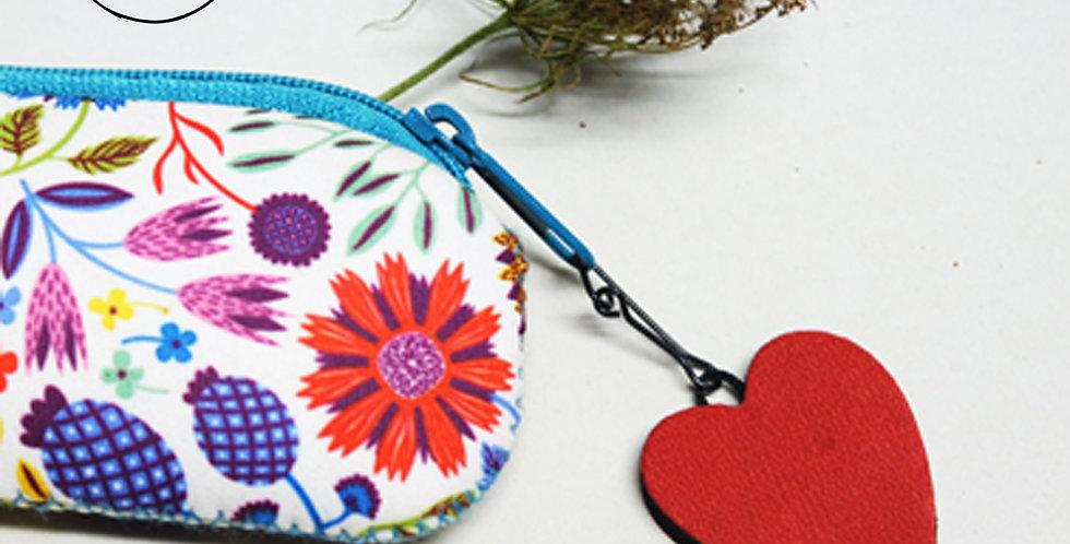 zip pendentif cœur pour fermeture éclair en cuir recyclé