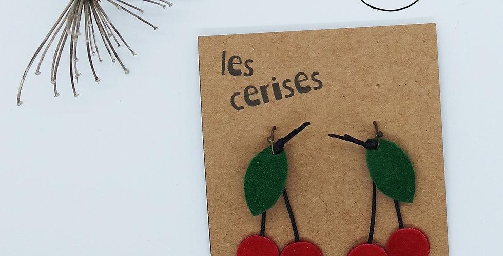"""Boucles d'oreilles """"Petites Cerises"""""""