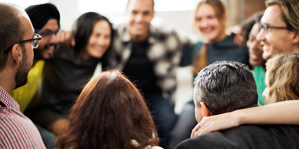 People in a circle as part of a support group