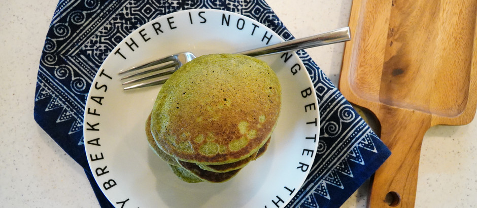 Fluffy Vegan Spinach & Oat Pancakes