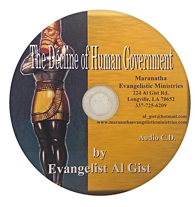 """The Decline of Human Government"""