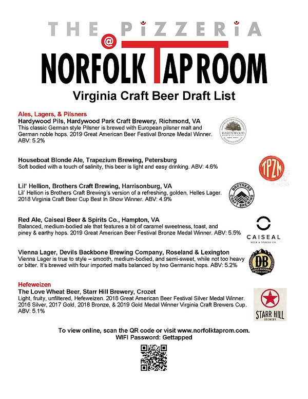 NTR Craft Beer List - Virginia - 1-2-202