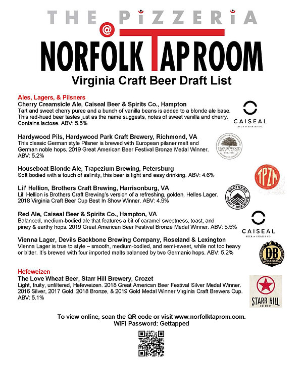 NTR Craft Beer List - Virginia - 3-19-20