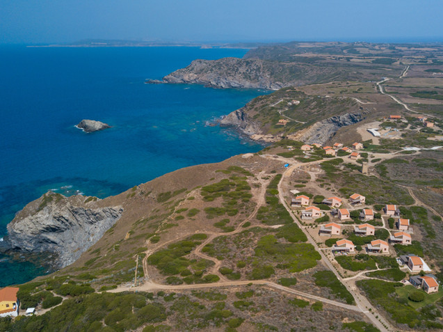 The coast and the small residence from above