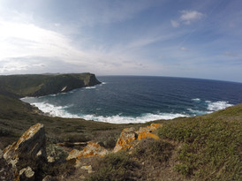 The cliffs and the sea