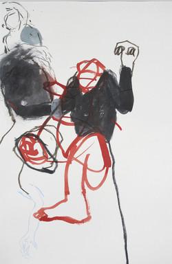 Le grand Butoh de Lorna Larwie (60x40 cm