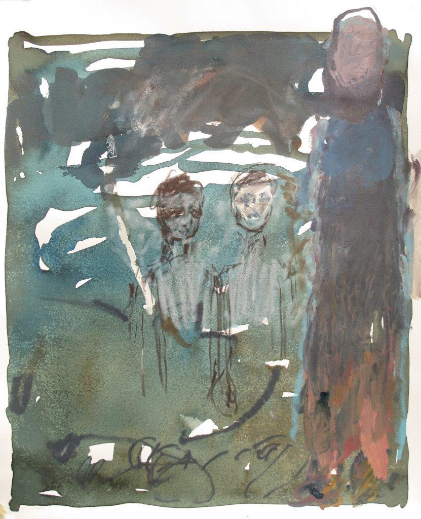 LECTURE Un soir (45x38 cm)