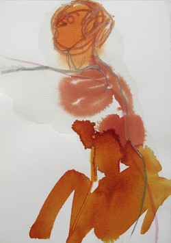 L'orée orange (27x19 cm)