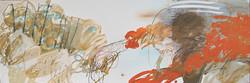Le fin fonde la flore du Notilus - (60x180 cm)