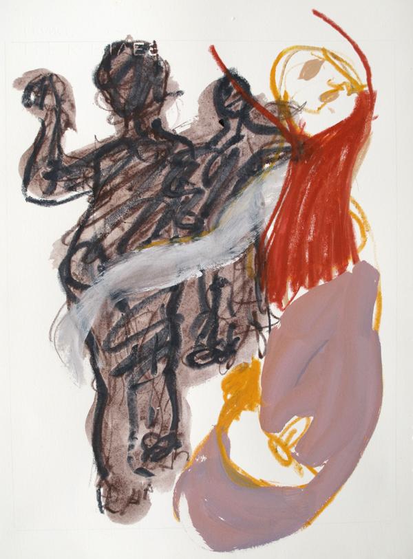 Butho -L'homme faisant le monstre  (50x35 cm)