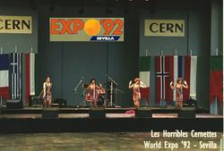 On stage at Sevilla World Expo'92
