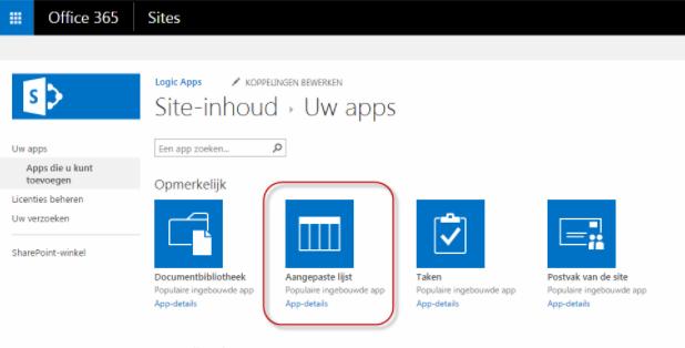 Voeg aangepaste lijst toe als App in SharePoint Online - AVGdesk.nl