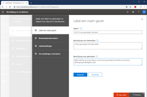 LETOP: geen spaties in LABEL-NAAM anders krijg je API error 500