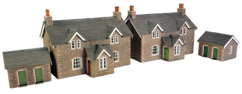 PO255 00/H0 SCALE WORKERS COTTAGES