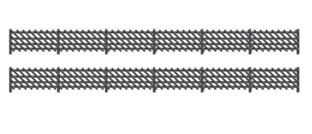427 LMS Station Fencing, Black