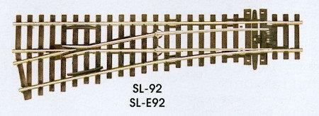 SL-92 Streamline Code 100 Left Hand Small Turnout