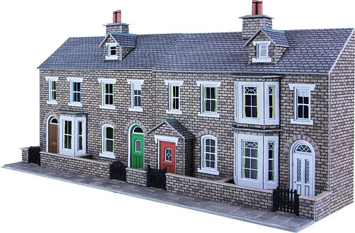 PO275 Low Relief Terraced Houses