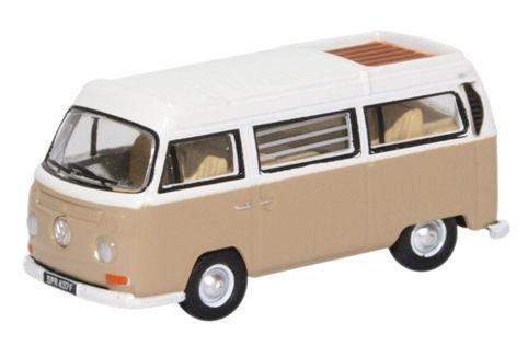 76VW027 VW Bay Window Camper Savannah Beige/White
