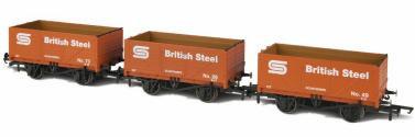 Oxford Rail British Steel Wagons 3 Pack