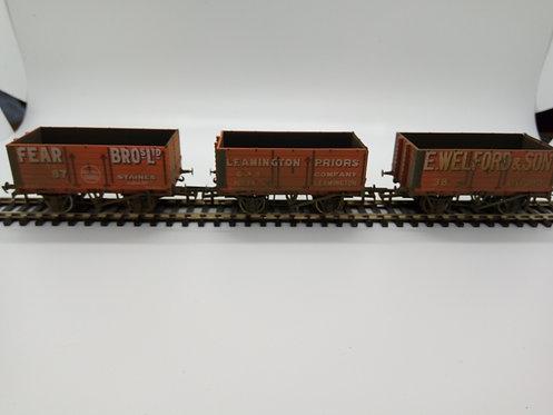 Oxford Rail 7 Plank wagon set (x3)