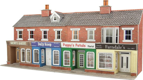 PO272 Low Relief Red Brick shop fronts