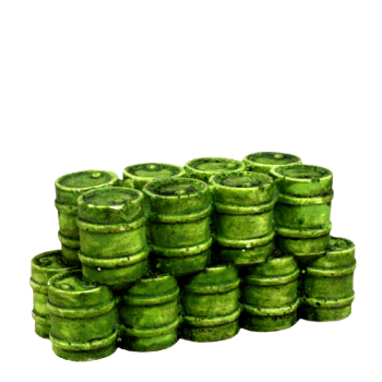 FL151 Oil Drums Green
