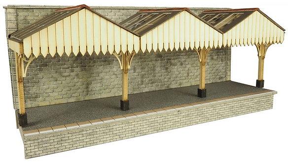 po341 Wall backed platform canopy