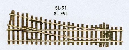 SL-91 Streamline Code 100 Right Hand Small Turnout