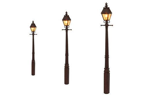 Lighting GM808 LMS Maroon Taper Post Gas Lamps (3)