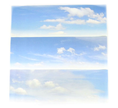 Gaugemaster GM755 Cloudy Sky Small Photo Backscene (1372x152mm)