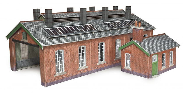 po313 Two Road engine shed red brick