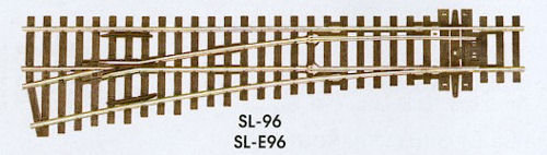 SL-96 Streamline Code 100 Left Hand Medium Turnout