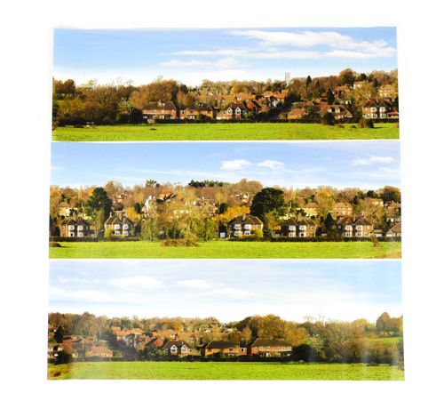 Gaugemaster GM704 Village Large Photo Backscene (2744x304mm)