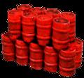 FL150 Red Oil Drum