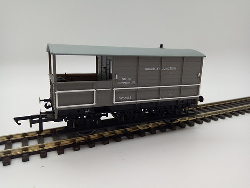 Oxford Rail OR76TOA003 Toad Brake Van BR 6 Wheel Plated Bordesley Junction
