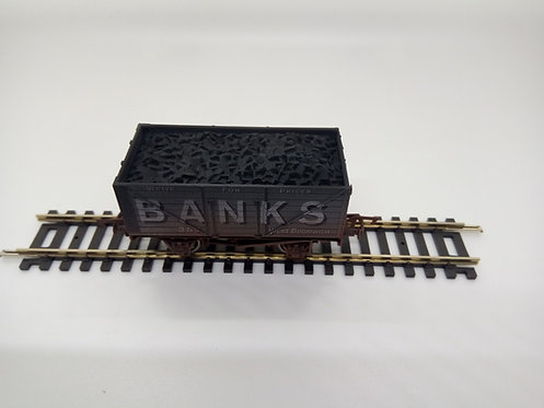 4F-080-125 OO GAUGE 8 PLANK WAGON BANKS 352 WEATHERED