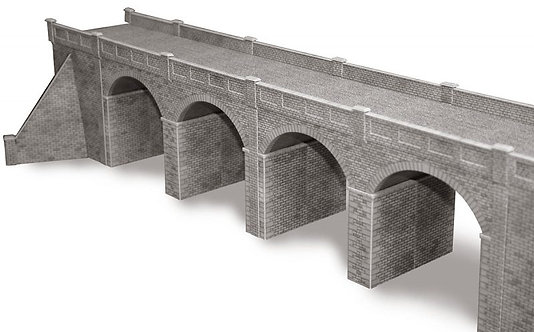 PO241 00/H0 SCALE DOUBLE TRACK STONE VIADUCT