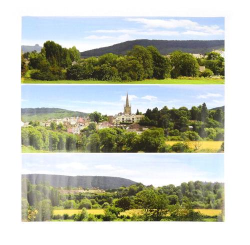 Gaugemaster GM758 Pretty British Town Small Photo Backscene (1372x152mm)