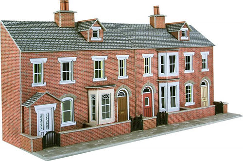 PO274 Low Relief Red brick house fronts