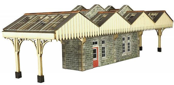 PO322 00/H0 SCALE ISLAND PLATFORM BUILDING